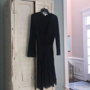 Diane von Furstenberg black wrap dress